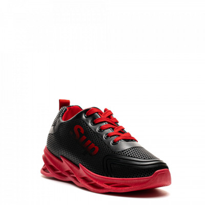 Pantofi Sport Cod: HQ-090-005 BLACK/RED (F03)
