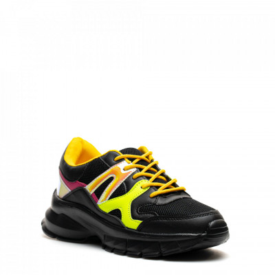 Pantofi Sport Cod: HQ-M20 BLACK/YELLOW (G04)