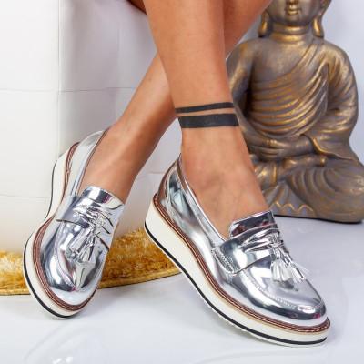 "Pantofi ""MireaFashion"" Cod: 7A131 SILVER (B09)(L03)"