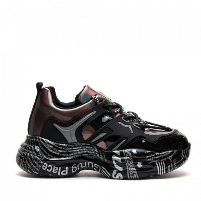 Pantofi Sport Cod: 20052 BLACK/GUN COLOR (F03)
