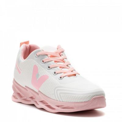 Pantofi Sport Cod: HQ-096-036 WHITE/PINK (H03)