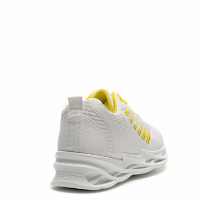 Pantofi Sport Cod: HQ-099-053 WHITE/YELLOW (I 03)