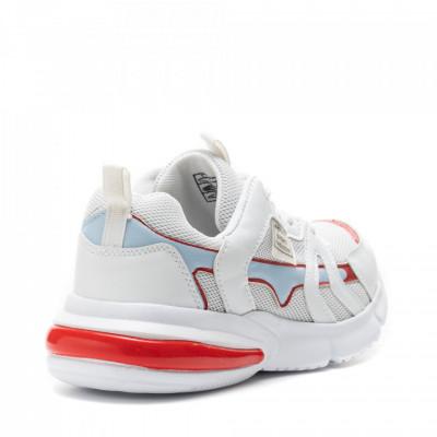 Pantofi Sport Cod: HQ726 WHITE/RED (A08)