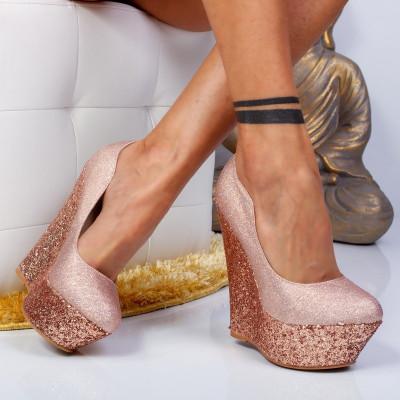 """Pantofi """"MireaFashion"""" Cod: XKK6902 CHAMPAGNE (M 03)"""