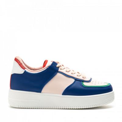 Pantofi Sport Cod: R-698 BLUE/PINK (E02)