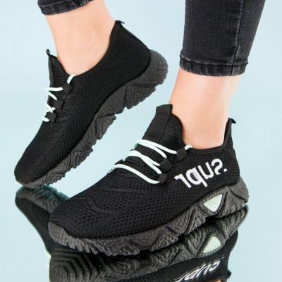 "Pantofi sport ""MireaFashion"" Cod: HQ-201-226 BLACK/L.GREEN (K06)"