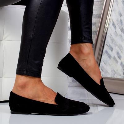"Pantofi ""MireaFashion"" Cod: WH1929 BLACK (E06)"