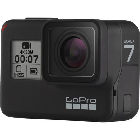 Camera video de actiune GoPro HERO 7, 4K, GPS, Black Edition