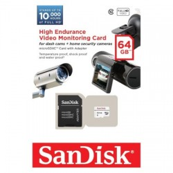 Card de memorie SanDisk MicroSDXC 64GB, High Endurance Video Monitoring