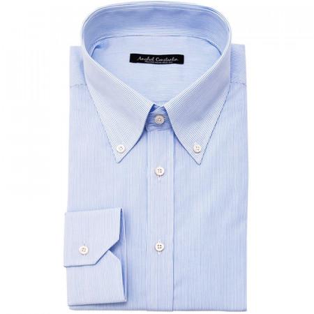 Camasa smart-casual cu dungulite albastre