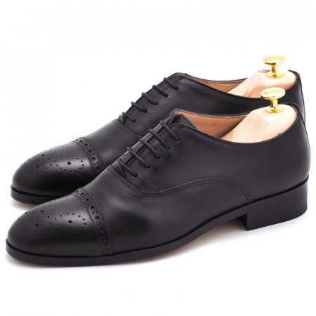 Pantofi negri Oxford captoe