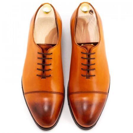 Pantofi coniac captoe