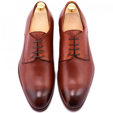 Pantofi barbat piele patinata coniac