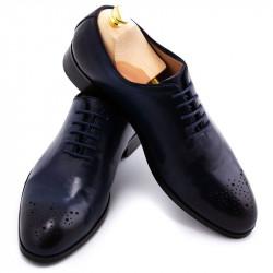 Pantofi barbatesti din piele bleumarin