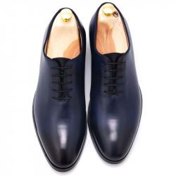 Pantofi wholecut patina bleumarin