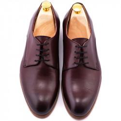 Pantofi derby burgund
