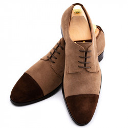 Pantofi la comanda din piele intoarsa