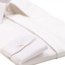 Camasa barbateasca din bumbac alb texturat