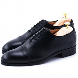 Pantofi negri captoe