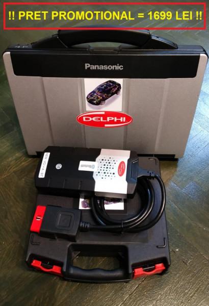 Testere Multimarca > Interfata semiprofesionala DELFI2 DS150E VCII Turisme&Autoutilitare&Camione + Laptop Militar Panasonic CF53