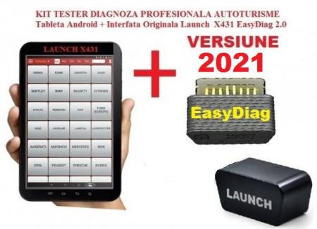Testere Multimarca > Kit Launch X431 Easydiag + Tableta, model Profesional Pro3S