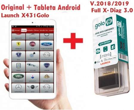 Testere Multimarca > Kit Launch X431 Golo Profesional + Tableta full software 2021 update