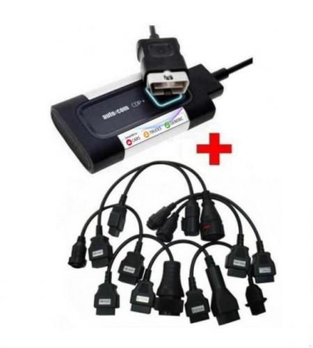 Tester Auto Multimarca Autocom V2 New Cdp+ versiune profesionala turisme si camioane, 16 cabluri incluse in pret