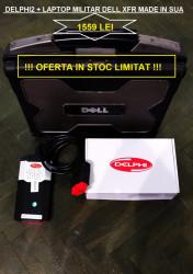 Kit Tester Delphi Ds150e Bluetooth + Laptop Militar Dell XFR, Turisme&Camioane
