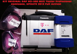 Testere Auto Camioane > Kit Aparat profesional Gama de Camioane DAF, laptop Panasonic Cf53 full software inclus