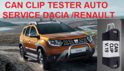 Testere Auto Profesionale > Aparat dedicat gamei Renault / Dacia, Can-Clip full chip, ultima versiune