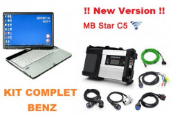 Testere Auto Profesionale > Kit Profesional diagnoza Mercedes / Smart MB Star C5 + Laptop, Full Software