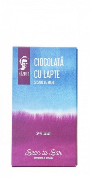 PRAVALIA IDICEL - RAZVAN Ciocolata cu lapte si sare de mare mini - 30gr