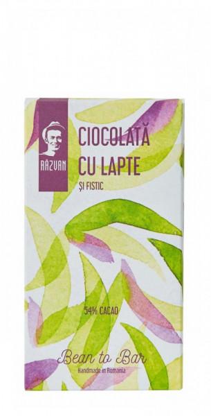 PRAVALIA IDICEL - RAZVAN Ciocolata cu lapte si fistic mini - 40gr