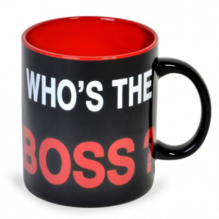 "Cana mare, ceramica, Model ""Who's the Boss?"", 815 ml"