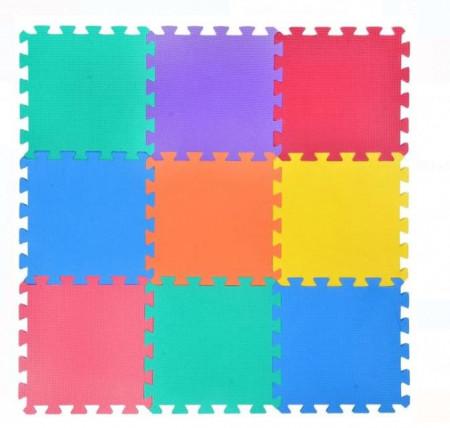 Podea puzzle din plastic 30,5x30,5x1 cm - 9 buc