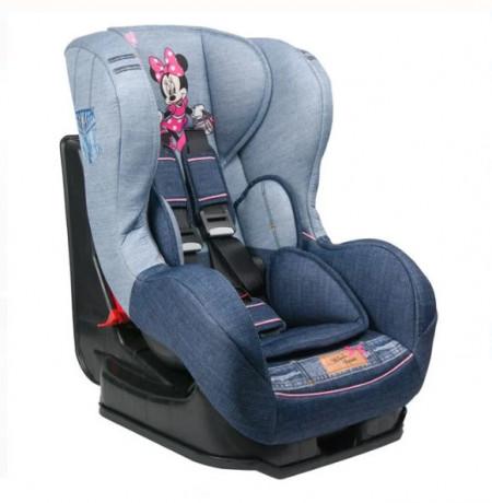 Scaun auto pentru copii, gri, 42 x 54 x 65 cm, model Minnie Mouse