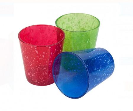 Set pahare de apa colorate 360 ml. - 3 buc.
