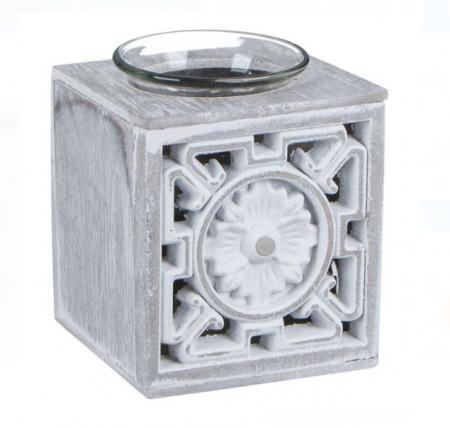 "<img src=""cutiuta.png"" alt=""Suport lumanare decorativ - din lemn pătrat perforat alb gri - 9x8 cm"">"