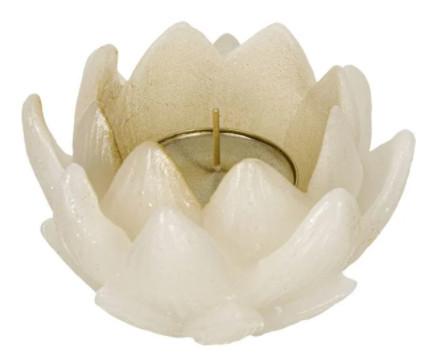 Lumânare Lotus 3D Gold Tealight 9x6 cm