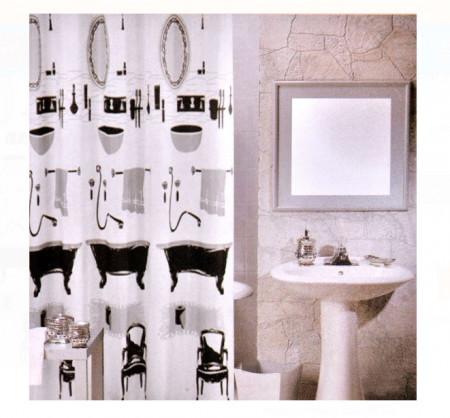 Perdea baie - accesorii baie - 180x180cm