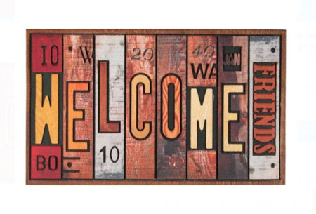 "<img src=""welcomecolor.png"" alt=""Covor de ușă Linii reliefate - Mesaj de proiectare ""Bun venit prieteni"" 75x45 cm"">"