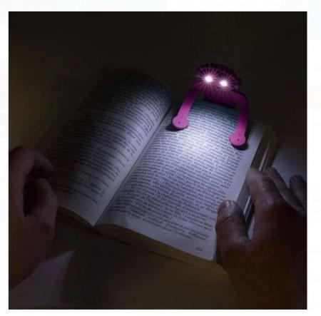 Lanternă de citit flexibila 2 LED 8,5x16 cm