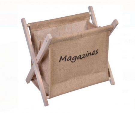 """<img src=""""mag.png"""" alt=""""Suport reviste din lemn pliată bej 32,5x22x29,5 cm."""">"""