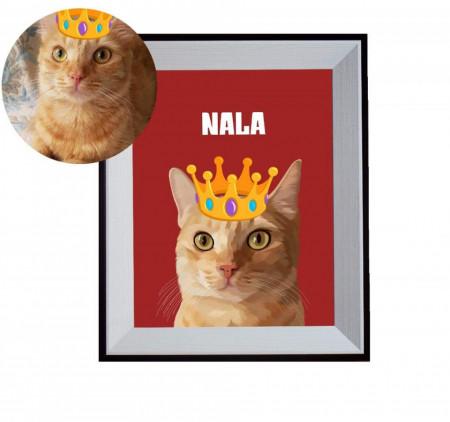 Tablou personalizat - portret cartonat animal + DIGITAL