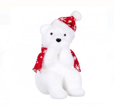 Ursulet decorativ din spuma, 26 cm