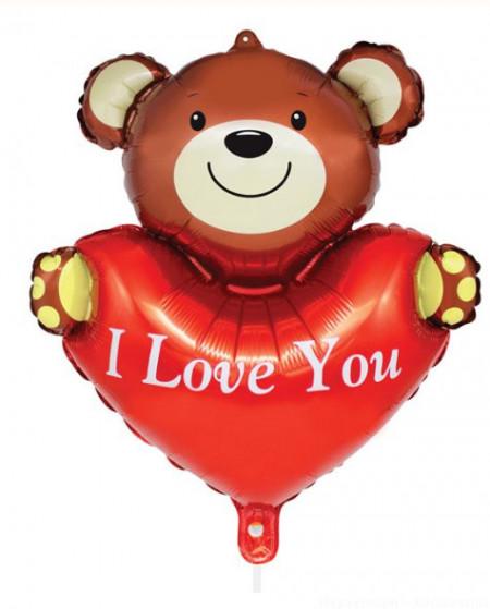 Balon Petrecere Valentine's Teddy Bear Folie Inimă 51x55 cm