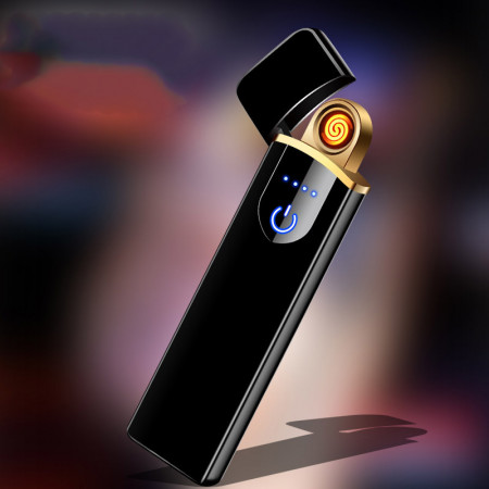 Bricheta electrica USB, anti-vant, senzor aprindere touch