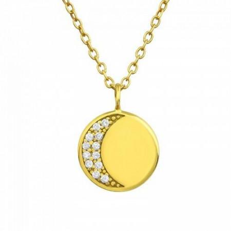 Colier Placat cu Aur 18k Luna