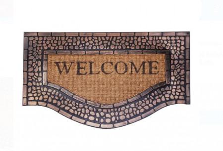 """<img src=""""welcom.png"""" alt=""""Covor de ușă - Pietre de bronz """"Bun venit"""" 75x45 cm"""">"""