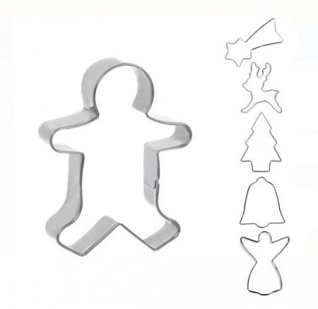 Set 6 forme prajituri - Model Craciun